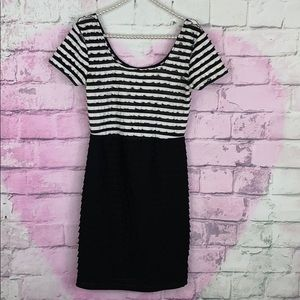 Silence + Noise UO black and white striped dress S